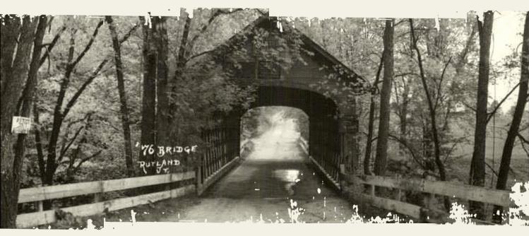 covered bridge rutland 1976